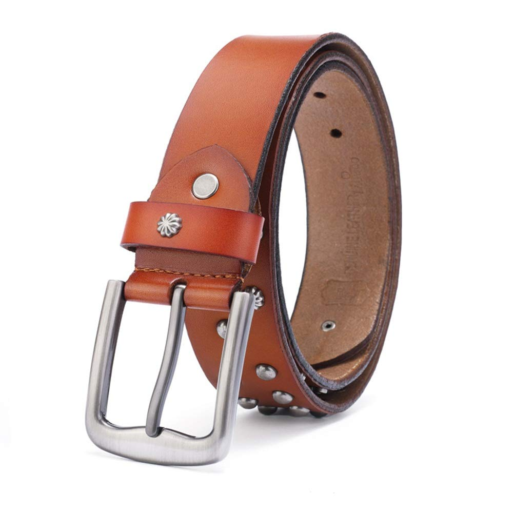 1b51f6b5dccb Brown Studded Belt Mens Belts Unisex Unisex Unisex Buckle Belt ...