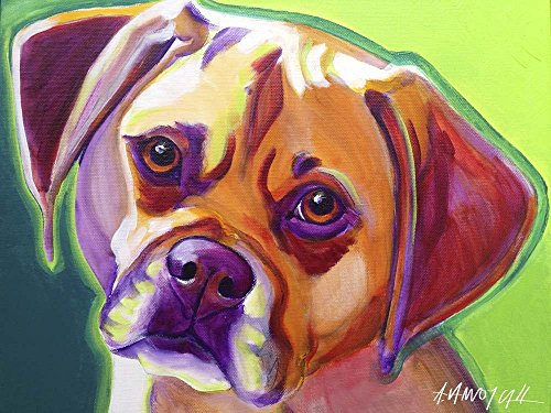 (Puggle - Cooper by DawgArt Art Print, 18 x 13 inches )