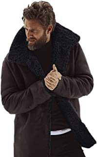 Aritone - men clothes Mens Winter Thicken Cotton Detached Coat Casual Turn-Down Collar Medium Length Jacket Outerwear M-3XL