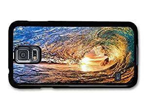 AMAF ? Accessories Big Wave to Surf In Sunset case for Samsung Galaxy S5 by lolosakes