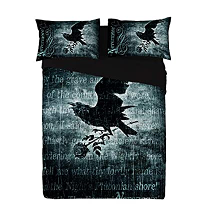 Image of Alchemy Gothic Nevermore USA Queen Duvet/Comforter Cover Set Home and Kitchen