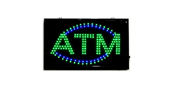 Amazon.com: Gran Animated LED ATM LED Señal de Neón Luminoso ...