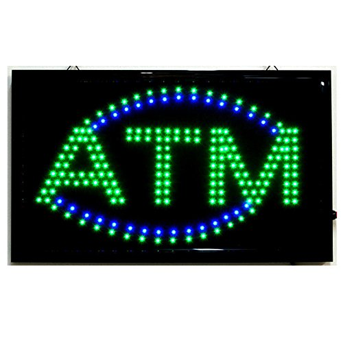 Amber Indiana Glass (LARGE Animated LED ATM LED Neon Sign Bright Restaurant Shop Store 21
