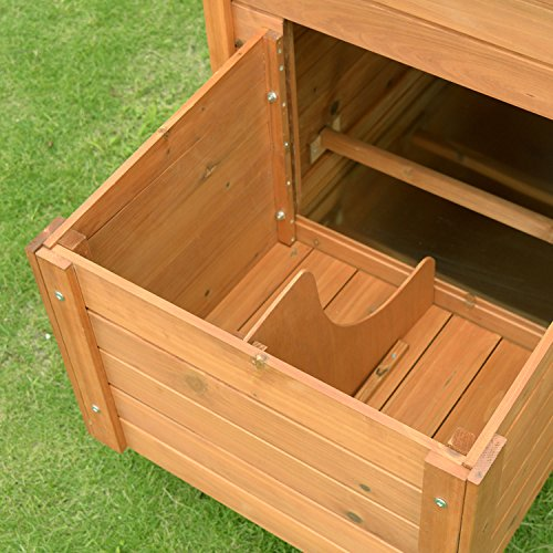 Pawhut Deluxe Wooden Chicken Coop with Backyard Outdoor Run, 87'' by PawHut (Image #6)