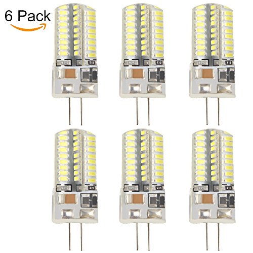 Price comparison product image TOPCHANCES 6 Pack 5W G4 3014 COB LED Bi-Pin Base Corn Light Bulb Replacement Non-dimmable Warm White (110V, 64 LED)