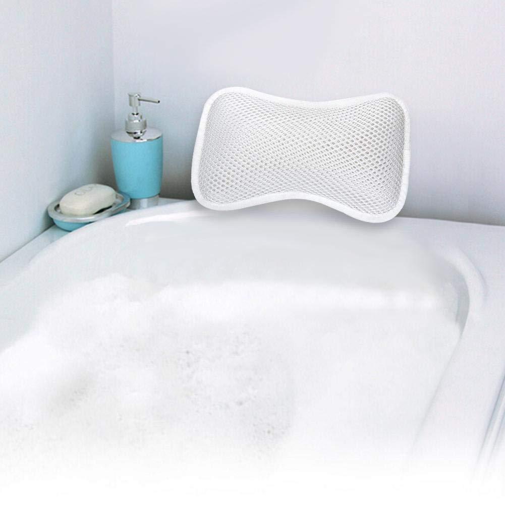 AUTOECHO Cuscini poggiatesta Vasca da bagno Cuscino Bagno Cuscino antiscivolo Vasca da bagno Confortevole traspirante 无