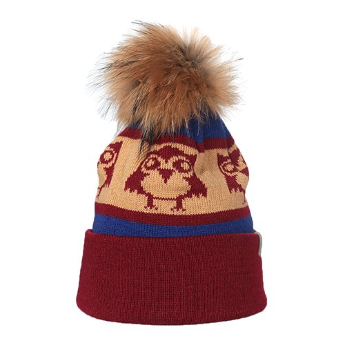 e6040b5f Amazon.com: Cirque Mountain Apparel The Owl Infant Hat, Red/Brown ...