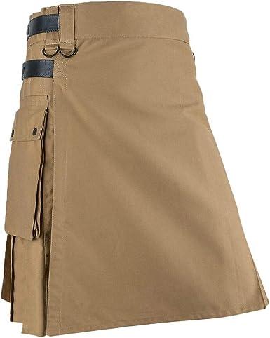 Amyline Falda Mujer Plisada, Hombres Vintage Kilt Escocia Moda ...