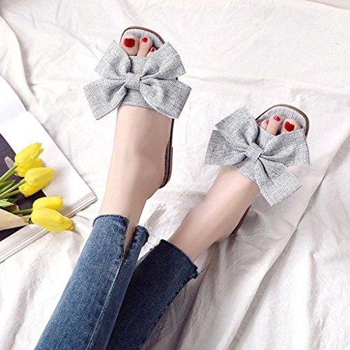 Mujer Playa Sandalias Mujer y Chancletas Verano de de para Talón Sandalias para Chanclas Sandalias Zapatos de Tacón Mujer Vestir Zapatos Verano Gris de HvZ6nntq