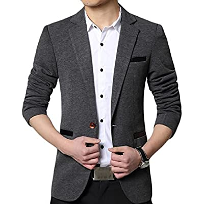 New ainr Mens Autumn Long-Sleeved Lapel One Button Slim Fit Suit Blazers for cheap