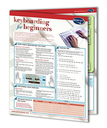 Computer Keyboarding for Beginners Guide - Computer Quick Reference Guide by Permacarts Permacharts.com
