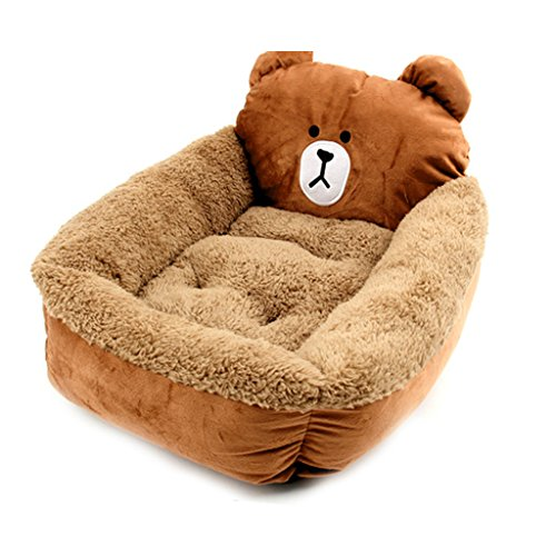 inoble-super-cute-bear-modeling-orange-pet-nest-kennelwarm-bed-house-plush-cozy-mat-pad-for-dog-cat-