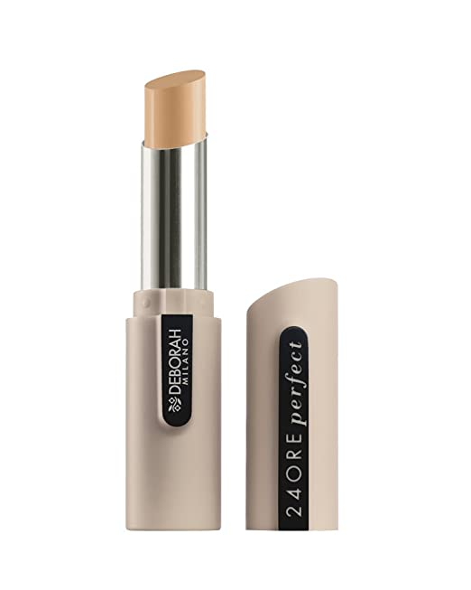 Deborah Milano 24 Ore Perfect Concealer, Lightweight Pen, Matte Finish Cover Stick 1.6g 4 by Deborah Milano