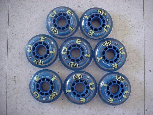8-pk True Rollerblade In-line inline wheels 72mm/82A Blue