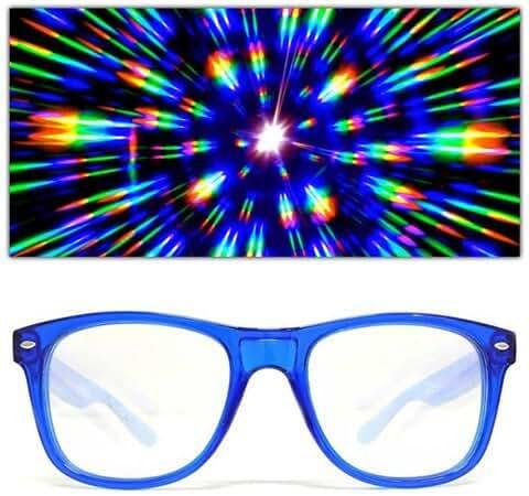 GloFX Ultimate Diffraction Glasses - 3D Prism Effect EDM Rainbow Kaleidoscope Style Rave Sunglasses