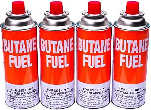 - Iwatani BUT-6 Butane Canister, Pack of 4, 8-Ounces