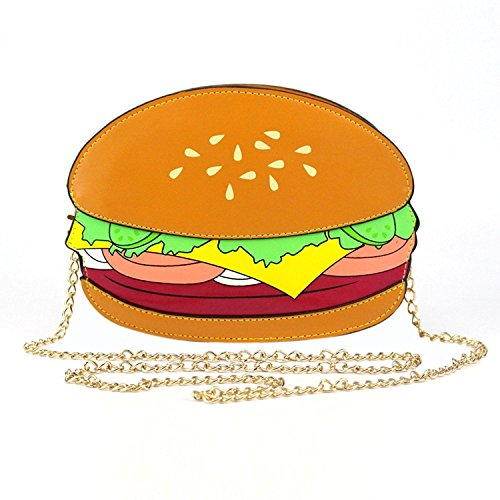 Easydeal Novelty Crossbody Bags Shoulder Bags Handbag for Woman (Hamburger)]()
