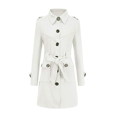 Abrigo para mujer, Moda de invierno y nieve de la mujer Color sólido Mullido Adelgazado
