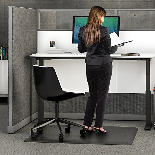 Get Deflecto Ergonomic Sit And Stand Black Chair Mat Low