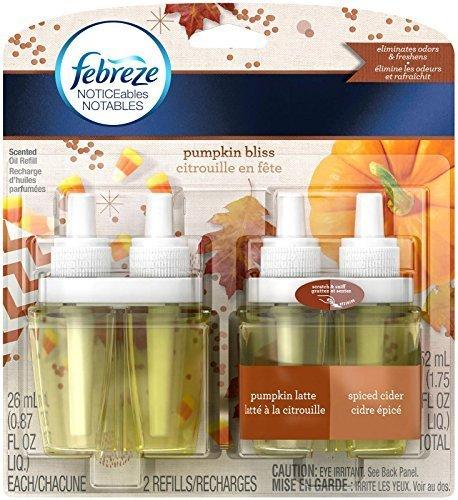 Febreze Noticeables Air Freshener Refill, Pumpkin Bliss, 1 Pack of 2 Refills (Pack of (Air Bliss)