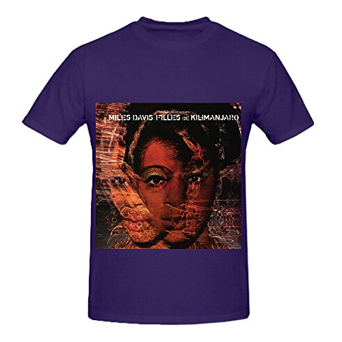 Miles Davis Filles De Kilimanjaro Soul Album Cover Mens Crew Neck Big Tall Tee Purple