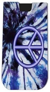 Rikki KnightTM Peace Logo on Blue Tie Die Design - Smart Phone Neoprene Protective Pouch for iPhone 4/4s/5/5s/5c, Motorola Moto X, Galaxy S3/S4/Note 3/Ace 2, LG Optimus Gpro/G2/L3/4X HD, Sony Xperia Z1S/U, HTC Droid/One/One X/Pro/mini, Blackberry G10/Z10,