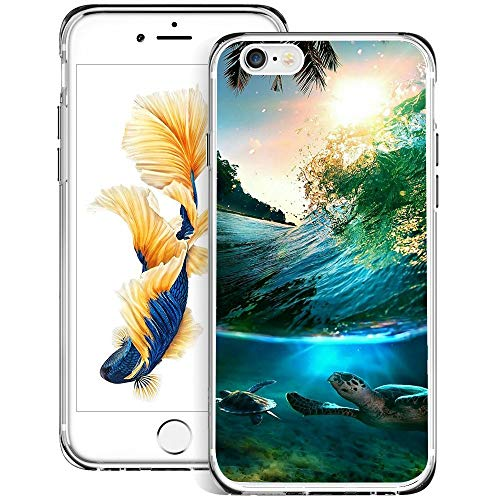 - Christy Mathisop Series Sea Spindrift Palm Tree Pattern iPhone 6/6S Plus Phone Case ,Clear Scratch-Resistant Shock Absorption Flexible Protective CoveriPhone 6/6S Plus case Baby Turtle
