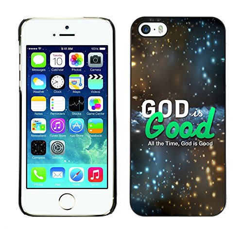 DREAMCASE Citation de Bible Coque de Protection Image Rigide Etui solide Housse T¨¦l¨¦phone Case Pour APPLE IPHONE 5 / 5S - GOD IS GOOD