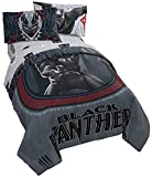 Jay Franco Marvel Black Panther Wakanda Twin Comforter - Super Soft Kids Reversible Bedding - Fade Resistant Polyester Microfiber Fill (Official Marvel Product)