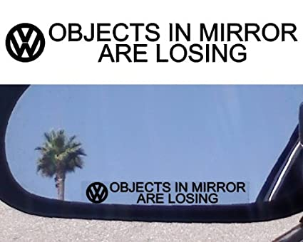 (2) MIRROR DECALS for VW PHAETON JETTA TDI ROUTAN KARMANN GHIA TOUAREG PASSAT TURBO