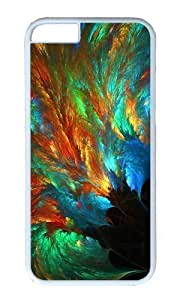 Adorable abstract sea of colors Peacock Feather Hard Case Protective Shell Cell Phone Cover For Apple iphone 4 4s - PC White