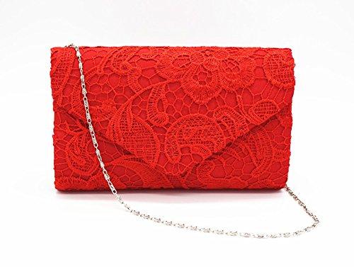 QSEVEN QSEVEN femme pour Pochette Pochette Red 0TxR5RqYw