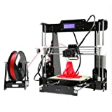 LI YU SZ Upgraded DIY Desktop 3D Printer - Prusa i3 Kit, High Accuracy Self-Assembly Tridimensional FDM Printer with Free 2 Rolls Filament Gift