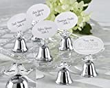120 Lovebirds Silver Finish Kissing Bell Place Card Holders