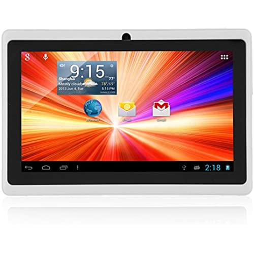 7 Android 4.4 WiFi Tablet 512MB 4GB A33 Quad Core Bluetooth Dual Camera White Coupons