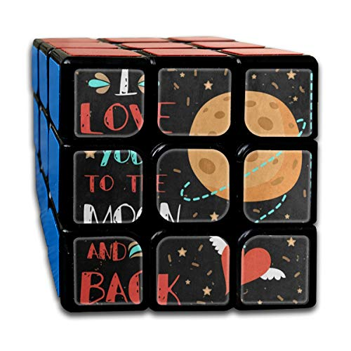 Speed Cube Valentine's Day Planet Red Heart Love Outer Space Customized 3 x 3 Magic Cube For Boys Intelligence Toy (Sticker) ()