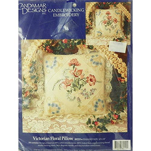 Victorian Floral Pillow - Embroidery and Candlewicking Pillowcase Kit - Candamar ()