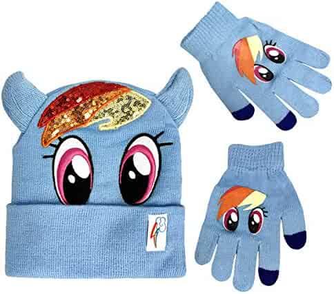 3741d2915e8 My Little Pony Winter Beanie Hat with Matching Glove Set Rainbow Dash  Character  4015