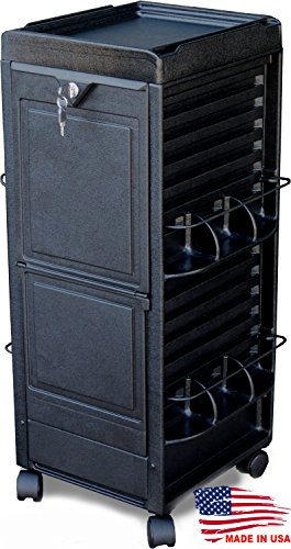 N20-P Locking Salon Trolley Cart for Tattoo, Spa, Skincare, Day spa Made in USA
