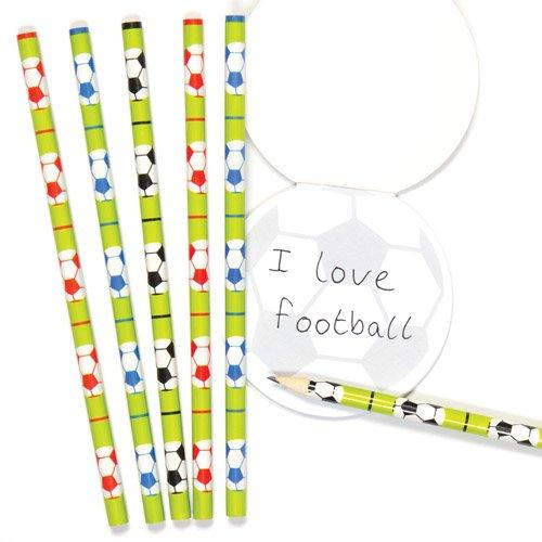 Baker Ross Soccer Football Pencils School Set for Children - Fun Party Bag Stuffer Loot Gifts for Kids (Pack of 6)]()