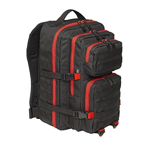 Brandit US Cooper Large Rucksack schwarz/rot