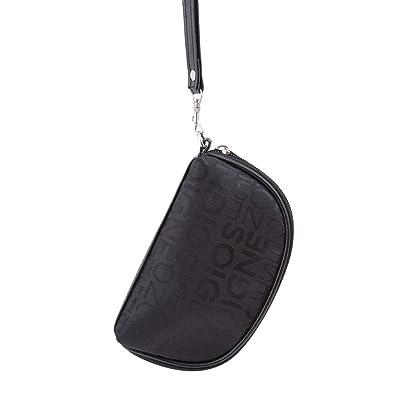 7e1c90e21d2 Amazon.com: HENGSONG Cosmetic Bag Luxury Designer Makeup Bag Shiny ...