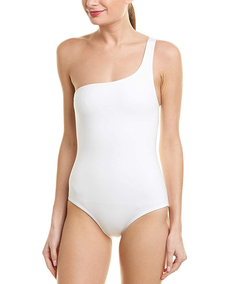 888588f069 Proenza Schouler Womens One-Shoulder One-Piece, L, White at Amazon Women's  Clothing store:
