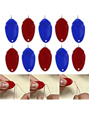 Needle Threader for Hand Sewing,Simple Threader Needle Threading Device,Finger Needle Threader DIY Hand Machine Sewing Tool for Sewing Crafting