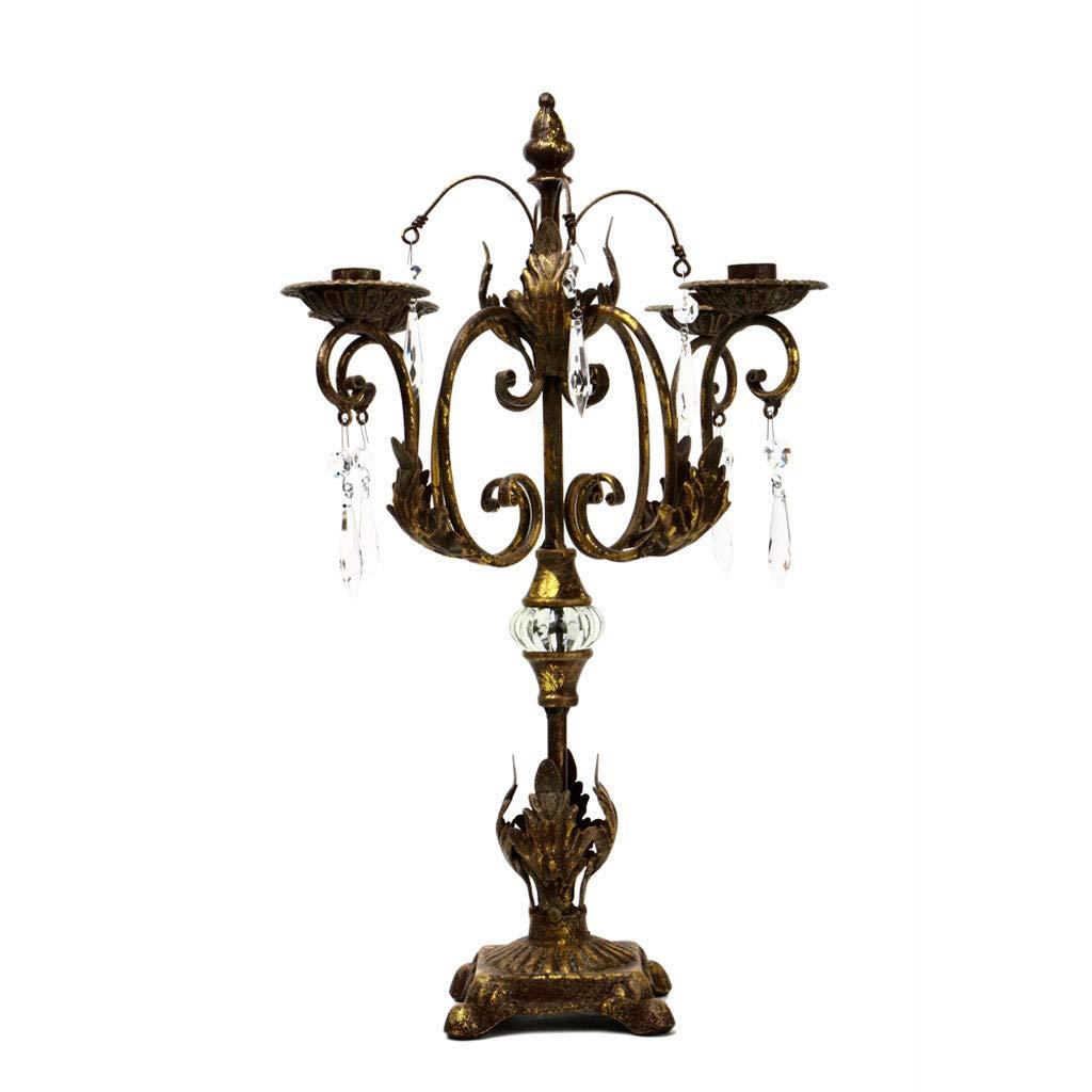 レトロロマンチックメタルキャンドルホルダーキャンドルライトディナーの小道具燭台ティーライトスタンドリビングルームの装飾 (色 : 金属 きんぞく)  金属 きんぞく B07MTYJCQ9