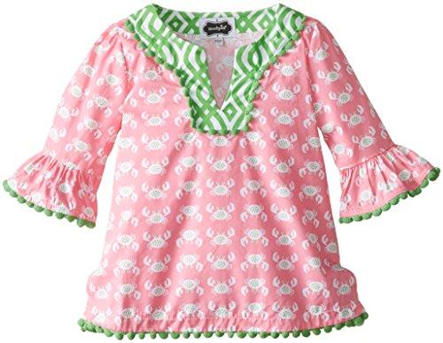 Mud Pie Baby Girls' Crab Tunic, Pink, 9 12 Months