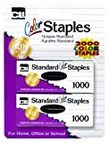 Charles Leonard Staples, Standard 26/6 Size, Assorted Colors (1000/Box), 2 Boxes Per Pack (80262)