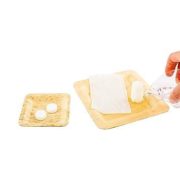 Luxenap - Servilletas húmedas desechables, pastillas de toalla comprimida – simplemente añadir agua, toalla