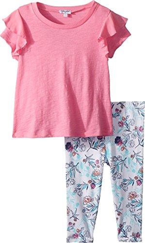 Splendid Girls' Toddler Floral Legging Set, Wild Orchid, 3T