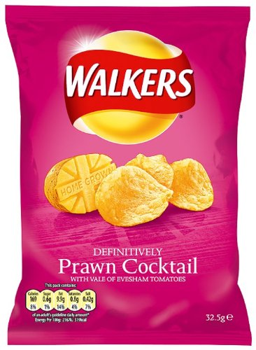 (Walker's Walkers Prawn Cocktail Crisps 32.5 G (Pack Of 48))